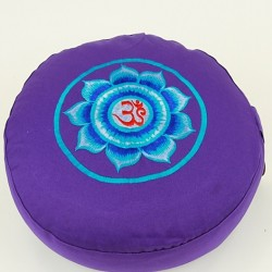 Meditatiekussen Lotus Zwart/Paars