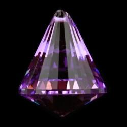 Regenboogkristal kegel violet