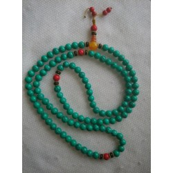 Kralensnoer (mala) Tibetaans turkoois