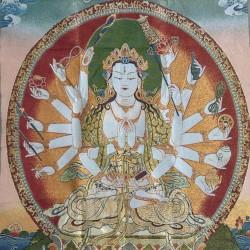 Nepalees wandkleed Avalokitesvara
