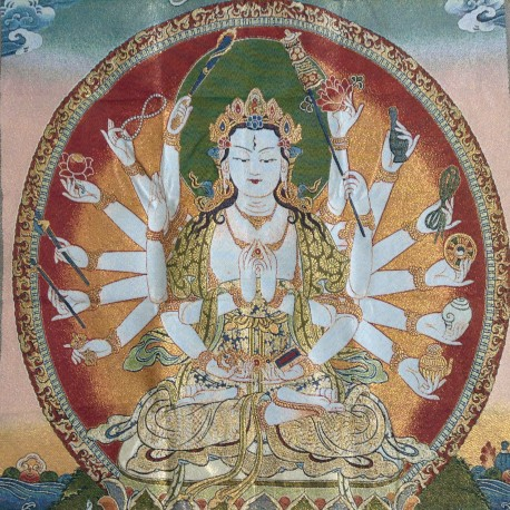 Nepalees wandkleed Avilokitesvara