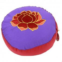 Meditatiekussen Lotus Paars/Rood