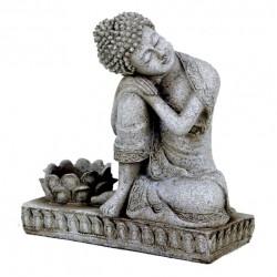 Rustende Boeddha met kaarshouder