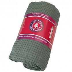 Yoga handdoek - PVC antislip - blauw