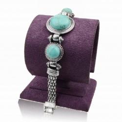 """Tibetaanse armband Turkoois """"SPIRITUELE LIEFDE"""""""