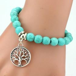 """Turquoise armband """"LEVENSBOOM"""""""