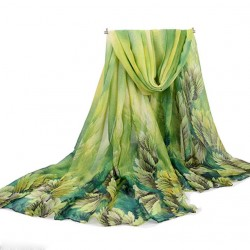 "Shawl ""JUNGLE"" (groen)"