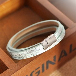 "Leren armband ""OPAAL PASSIE"""