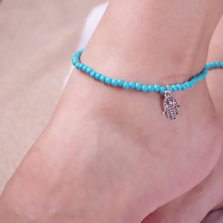 "Enkel- of armbandje ""HAMSA"""