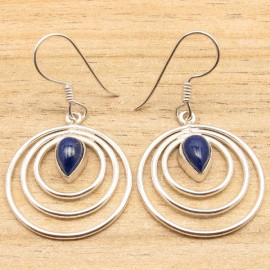"Lapis Lazuli Oorhangers ""INFINITY"""