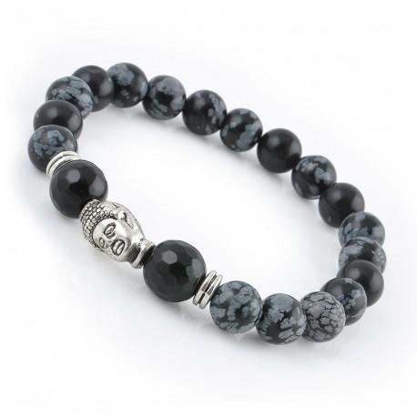 "Tijgeroog Boeddha armband ""BESCHERMING"""
