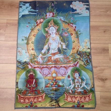 Nepalees wandkleed Witte TARA