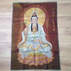 Wandkleed Quan Yin