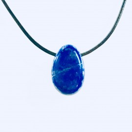 """Lapis Lazuli hanger """"ZELFVERTROUWEN & MOED"""""""