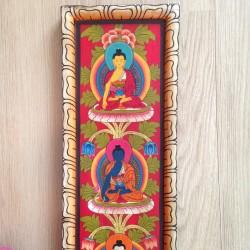 5 Wijze Boeddha's Wandpaneel