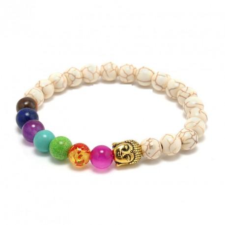 "Howliet Boeddha armband ""TEVREDENHEID"""