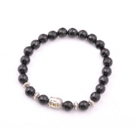 "Boeddha armband onyx ""anti-stress"""