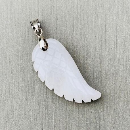"""Angel Wing Hanger Witte Jade """"VERTROUWEN"""""""