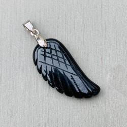"""Angel Wing Hanger Witte Jade """"VERTROUWEN & LOSLATEN"""""""