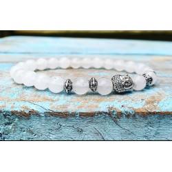 Boeddha armband witte jade