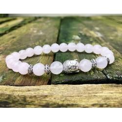 Boeddha armband rozenkwarts