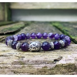 Boeddha armband amethist