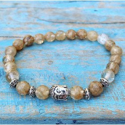 Boeddha armband citrien