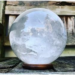 "Bergkristal Bol ""LEVENSKRACHT"" (14cm)"