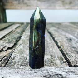 "Labradoriet obelisk ""Energetische Bescherming"""