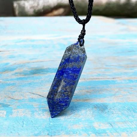 """Lapis Lazuli Dubbeleinder Hanger """"EigenWijze Kracht"""""""