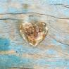 """""""Hart van Goud"""" glazen hartje met echt bladgoud"""