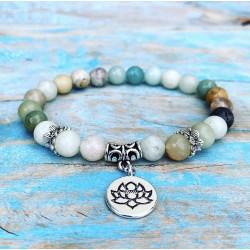 """Amazoniet Armband """"Lotus van de Lente"""""""