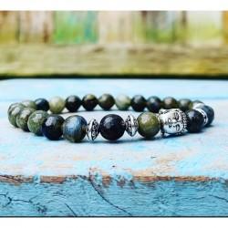 Boeddha armband labradoriet