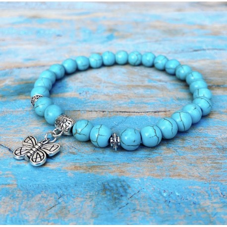 "Turqueniet Vlinder Armband ""Spiritualiteit"""