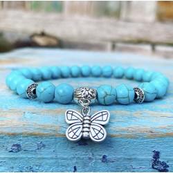 Turqueniet Vlinder Armband
