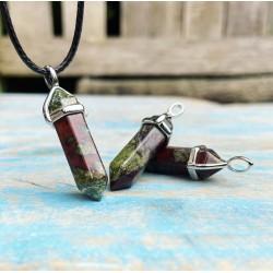 Kristalpunt hanger Drakenbloed Steen
